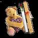 Caja rosa x1 + oso meloso con corazón