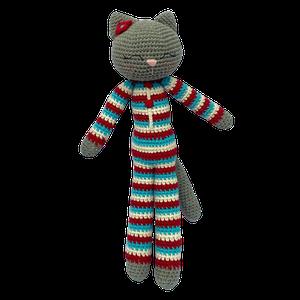 Peluche gato tejido