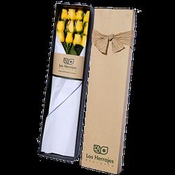Caja Rosas Amarillas x12