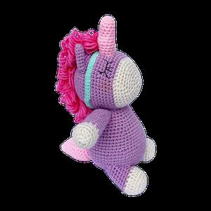 Peluche unicornio tejido