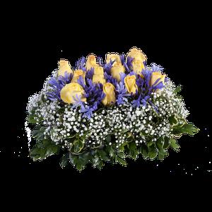 Almohadita Rosas Amarillas