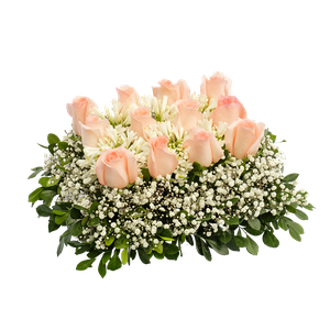 Almohadita Rosas Rosadas