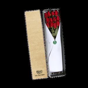Caja Rosas Rojas x12
