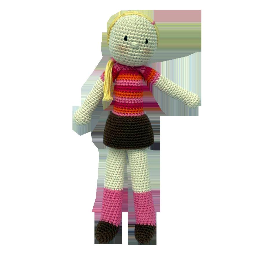 Peluche muñeca tejida